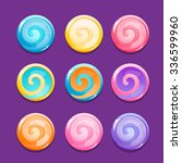 set of lollipop icons. vector...