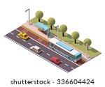 vector isometric icon or... | Shutterstock .eps vector #336604424