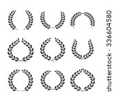 laurel wreaths symbol set | Shutterstock .eps vector #336604580
