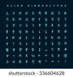 alien hieroglyphs symbols ...   Shutterstock .eps vector #336604628