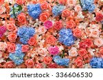 Stock photo beautiful flowers background for wedding scene 336606530