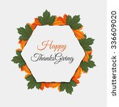 happy thanksgiving sticker  tag ... | Shutterstock .eps vector #336609020