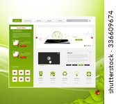 eco business one page website...