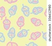 seamless    pattern  of  acorn... | Shutterstock .eps vector #336612980