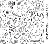 vector hand drawn seamless... | Shutterstock .eps vector #336615470