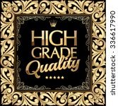 high grade quality gold emblem | Shutterstock .eps vector #336617990