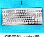 computer keyboard hand drawn... | Shutterstock .eps vector #336622586