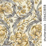 seamless pattern of decorative... | Shutterstock .eps vector #336623858
