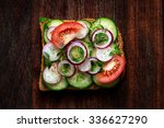 vegetarian toast  sandwich with ...