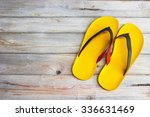 Slippers On Wood