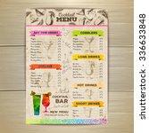 vintage cocktail menu design.... | Shutterstock .eps vector #336633848