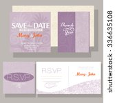 wedding invitation with purple... | Shutterstock .eps vector #336635108