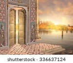 Traditional Indian Door On The...
