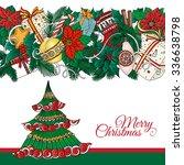 christmas tree. vector hand... | Shutterstock .eps vector #336638798