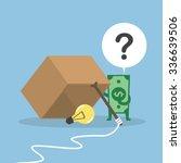 dollar money wondering about... | Shutterstock .eps vector #336639506