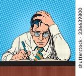 writer journalist scientist... | Shutterstock . vector #336639800