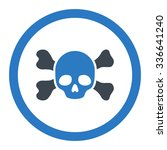 skull and bones vector icon....   Shutterstock .eps vector #336641240