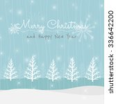 vector christmas greeting card. ... | Shutterstock .eps vector #336642200