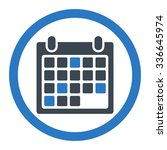 calendar appointment vector... | Shutterstock .eps vector #336645974