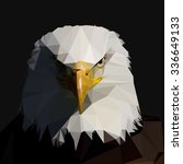 bald  eagle in the style of low ... | Shutterstock .eps vector #336649133
