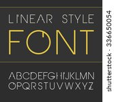 vector linear font.  simple and ... | Shutterstock .eps vector #336650054