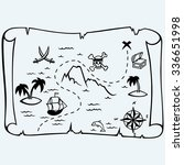 island treasure map. isolated... | Shutterstock .eps vector #336651998