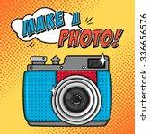 vector illustration with retro... | Shutterstock .eps vector #336656576