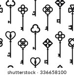 seamless pattern with antique...   Shutterstock .eps vector #336658100