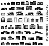 buildings vector icons set | Shutterstock .eps vector #336661460
