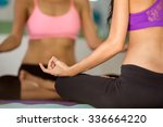 detail of people in yoga lotus ... | Shutterstock . vector #336664220