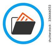 document folder glyph icon....   Shutterstock . vector #336666053