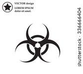 biohazard symbol vector sign...   Shutterstock .eps vector #336666404