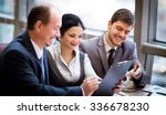 business team working together... | Shutterstock . vector #336678230