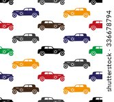 old simple various color car... | Shutterstock .eps vector #336678794
