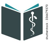drug handbook glyph icon. style ... | Shutterstock . vector #336679370