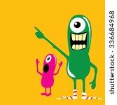 cartoon cute monsters. friendly ... | Shutterstock .eps vector #336684968