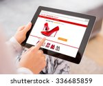 woman using digital tablet to... | Shutterstock . vector #336685859