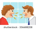 family conflict. man and woman... | Shutterstock .eps vector #336688208