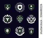 heraldic signs  heraldic... | Shutterstock .eps vector #336688226