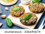 vegan quinoa eggplant spinach... | Shutterstock . vector #336690674