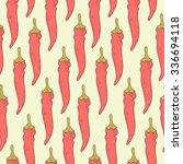 red hot chilli pepper seamless... | Shutterstock .eps vector #336694118
