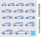 linear cars icons set ... | Shutterstock .eps vector #336694838