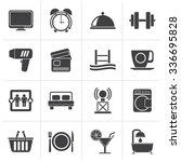 black hotel and motel...   Shutterstock .eps vector #336695828