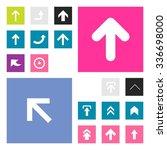 up arrow upload icon set....