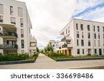 modern residential buildings...   Shutterstock . vector #336698486