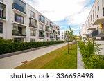 modern residential buildings... | Shutterstock . vector #336698498