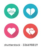 heart shapes flat design icons... | Shutterstock .eps vector #336698819