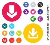 down arrow download icon set.... | Shutterstock .eps vector #336698954