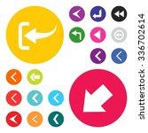 back arrow previous icon set.... | Shutterstock .eps vector #336702614