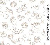 vector illustration outline... | Shutterstock .eps vector #336703016